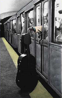 A cellist's subway nightmare!